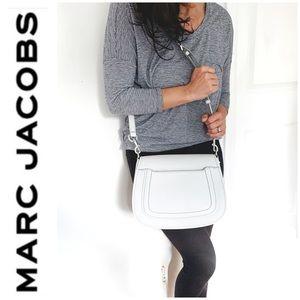 NWT Marc Jacobs genuine leather saddle bag gray